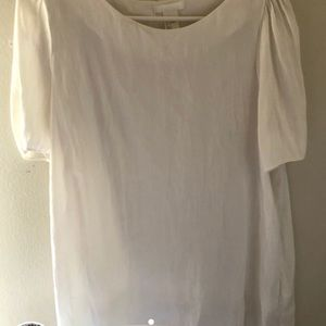 •white H&M blouse